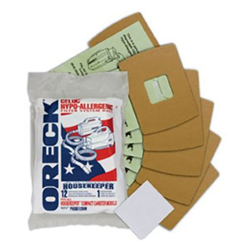 Oreck PKBB12DW Super-Deluxe Compact Canister Bags (12 filter bags, 1 motor filter)