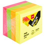 DELI Sticky Notes, Post-it Notes, 2 x 2 Inches, 100x4 Sheets, Neon Colors, EA03303