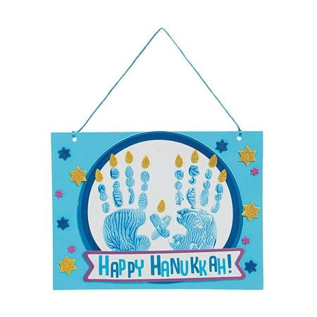 IN-13821298 Hanukkah Handprint Sign Craft Kit By Fun - Reindeer Handprint Craft