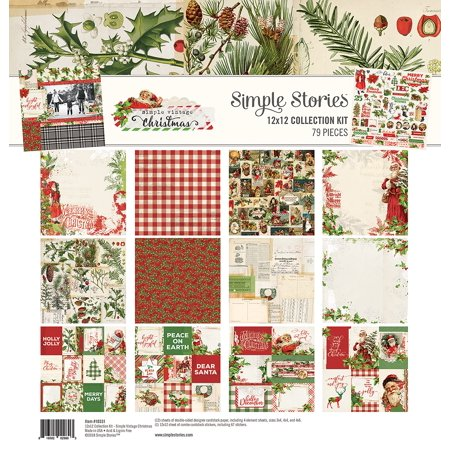 Simple Stories Vintage Christmas Collection - Simple Chipboard Kit