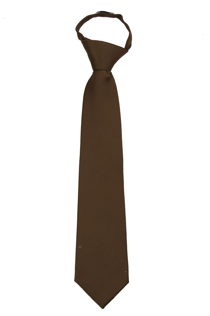 Men's Solid Color Zipper Necktie Ties - Many Colors Available
