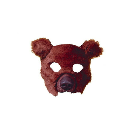 Plush Bear Brown Mask Halloween Costume Accessory (Bear Costume Halloween)