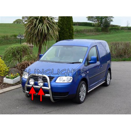 Volkswagen VW Caddy Auxilliary Lamp Brush Bar Driving Lights Off Road Aux Offroad Lamps Kit (Aux Light)