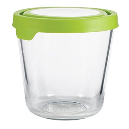 d1427a14d247 Anchor Hocking 11907AHG17 Trueseal Glass Food Storage Containers Airtight  Lids, 7 Cup Tall, Green