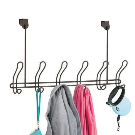 Mainstays Classico Over-The-Door Coat Rack With 6 Hooks, Bronze Bronze Door Hook
