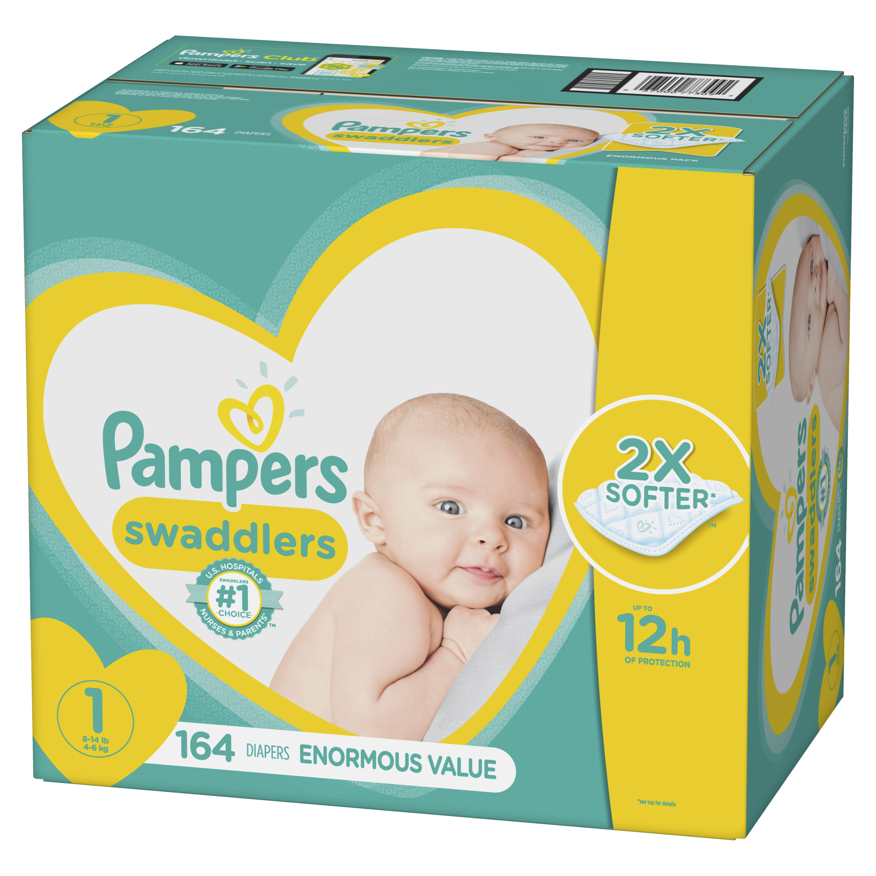 Pampers Swaddlers Diapers VALUE Size Preemie N 1 2 3 4 5 6 NO TAX!! CHEAP!!!