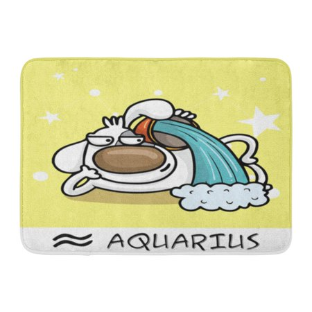 GODPOK Astrological 2018 Horoscope Zodiac Sign Dog Aquarius Calendar Astrology Rug Doormat Bath Mat 23.6x15.7 inch