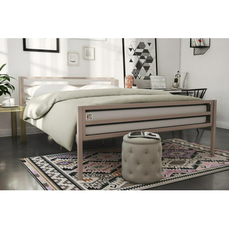 (Novogratz Maxwell Metal Platform Bed, Full Size, Multiple Colors)