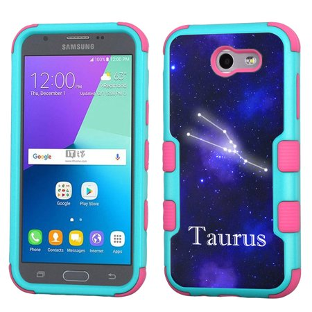 newest 1bde8 8bb24 ShockProof Case for Samsung Galaxy J3 Luna Pro 4G LTE / J3 Eclipse / J3  Emerge / J3 Prime, OneToughShield ? 3-Layer Hybrid Protector Phone Case ...