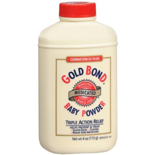 Gold Bond Cornstarch Plus Baby Powder 4 oz (Pack of 4)