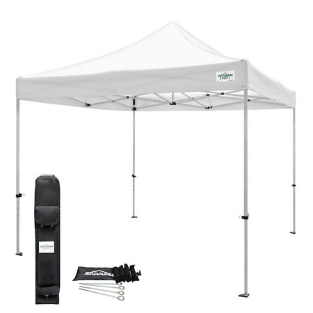 Caravan Canopy TitanShade 10 x 10 Steel Frame Portable Instant Canopy Kit, White