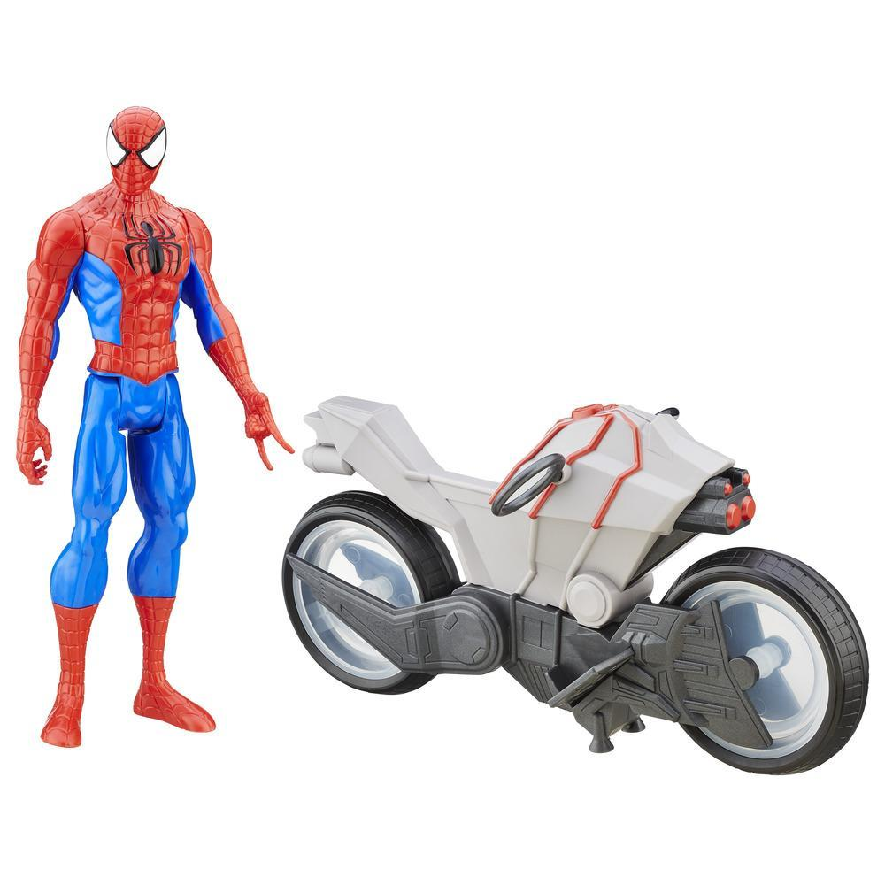Spider-Man with Night Cycle Ultimate Spider-Man vs The Sinister Six