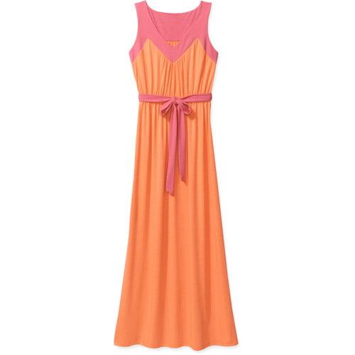Faded Glory Women's Colorblock Maxi Dress