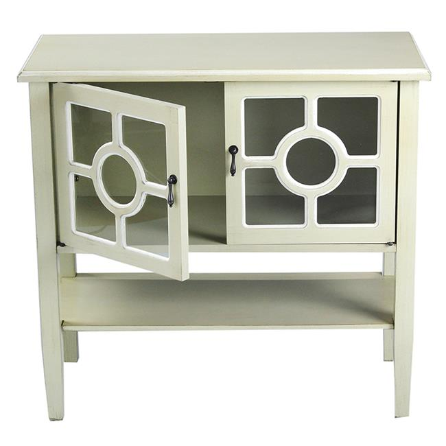 Heather Ann Creations W191091 1222 Hampton 2 Door Console Cabinet