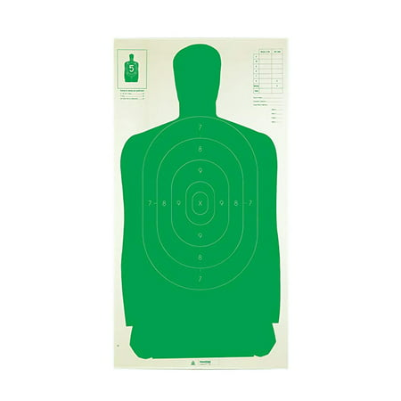 Champion Traps and Targets Police Silhouette Target 24x45u0022 Green, 100-Pack