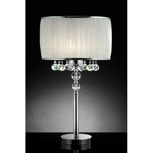 OK LIGHTING 31in H ESSENCE TABLE LAMP OK-5139T Silver