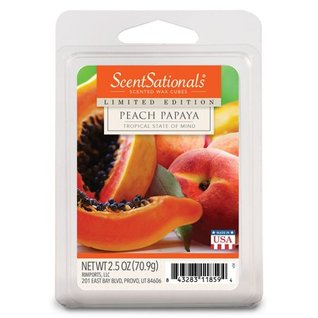 Peach Papaya Scented Wax Melts, ScentSationals, 2.5 oz
