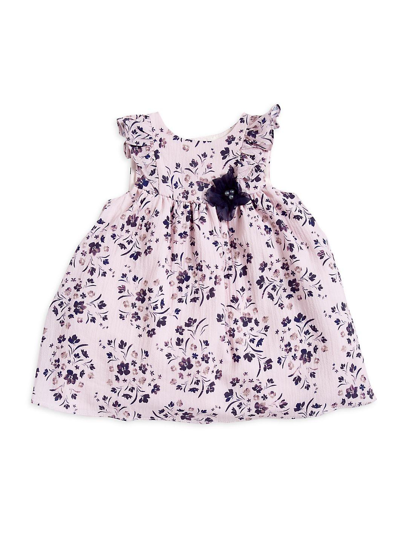 Little Girl's Floral Printed & Embellished Dress