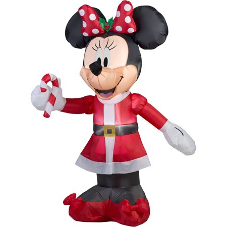 Disney Christmas Inflatables (Gemmy Airblown Christmas Inflatables 5' Disney Minnie with Candy)
