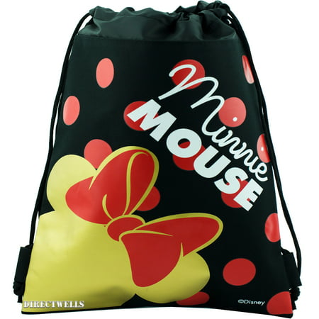 Disney Minnie Mouse Red Bow Drawstring Bag