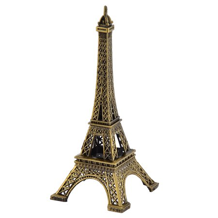 Paris Eiffel Tower Decor (Home Decor Metal Paris Miniature Eiffel Tower Model Bronze Tone 15.5cm)