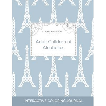 Adult Coloring Journal : Adult Children of Alcoholics (Turtle Illustrations, Eiffel
