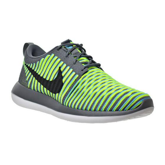 af30312596d3e Nike - Mens Nike Roshe Two Flyknit Dark Grey Black Gamma Blue Volt ...