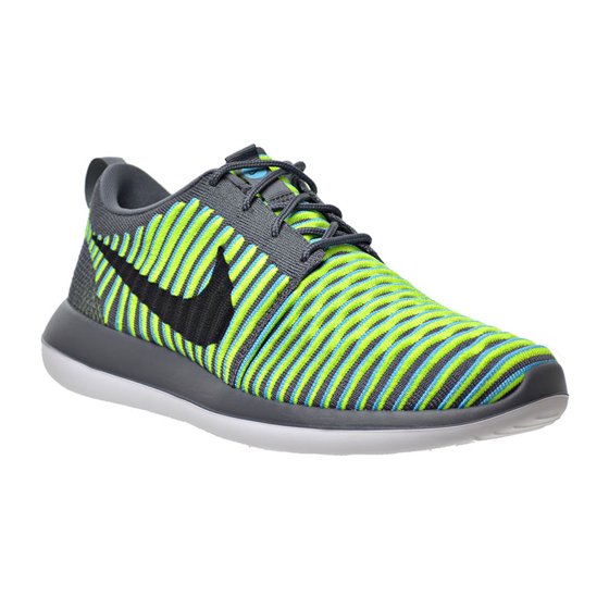30bd712e7ec4 Nike - Mens Nike Roshe Two Flyknit Dark Grey Black Gamma Blue Volt ...