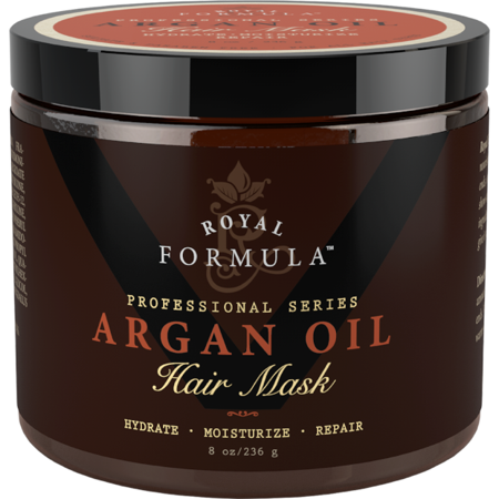 Repair Formula - Royal Formula - Argan Oil Hair Mask Deep Conditioner Hair Treatment Therapy, Repair Dry, Damaged, Color Treated and Bleached Hair - Hydrates and Stimulates Hair Growth, 8 Oz