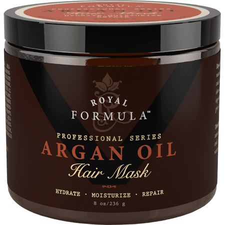 Royal Formula - Argan Oil Hair Mask Deep Conditioner Hair Treatment Therapy, Repair Dry, Damaged, Color Treated and Bleached Hair - Hydrates and Stimulates Hair Growth, 8 (Best Hair Mask For Dry Hair Uk)