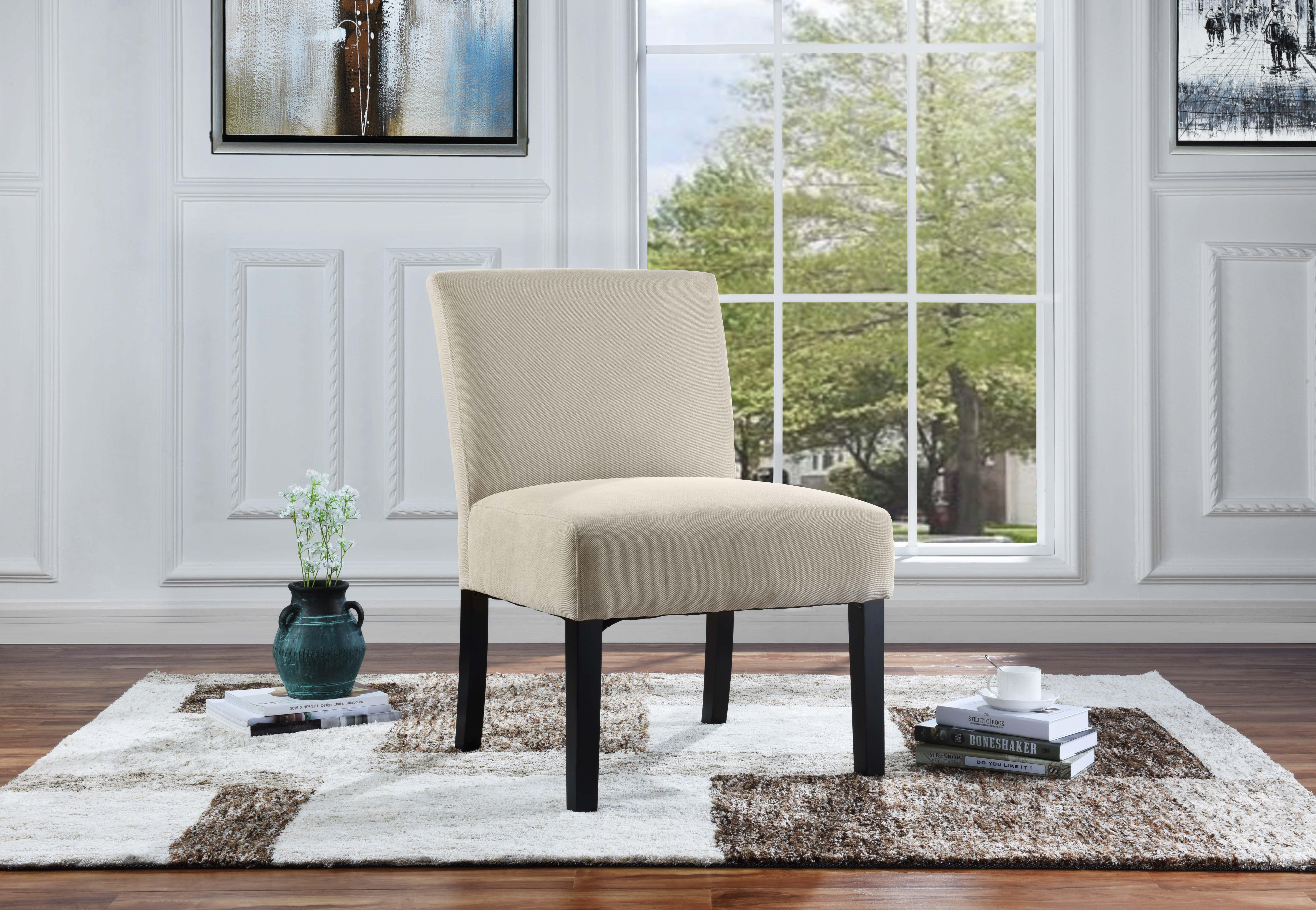 Modern sleek linen fabric living room accent chair walmart com