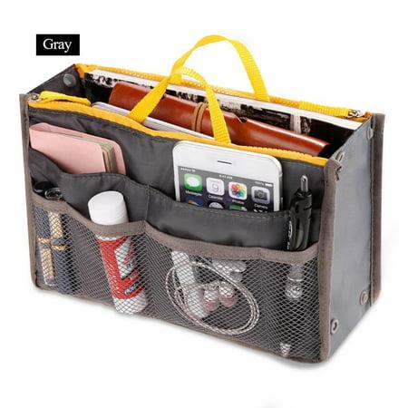 Expandable Pockets Large Handbag Insert Purse Organizer Multifunction Storage bag