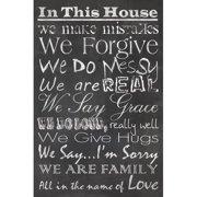 HDC International 'House Chalk' Textual Art on Wrapped Canvas