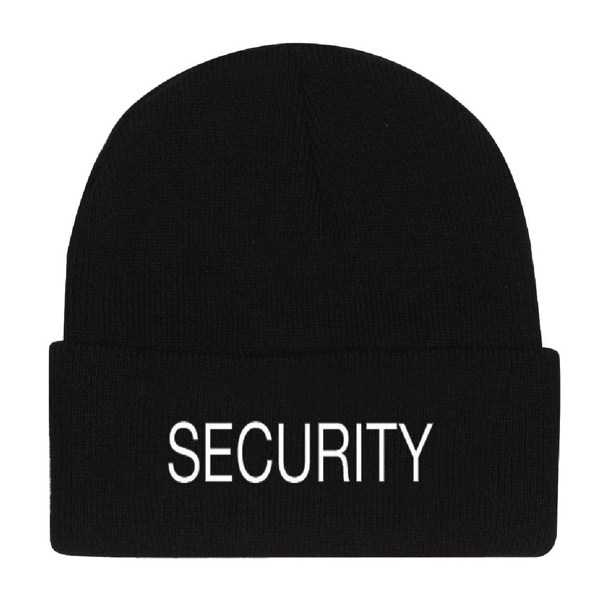 Embroidered Security Knit Watch Cap - Walmart.com 1d477469d