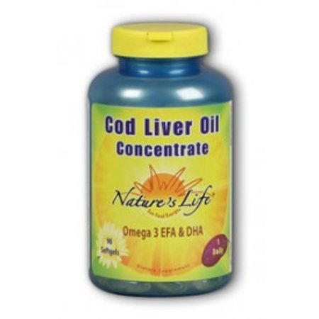 Cod liver oil concentrate 1140mg nature 39 s life 90 softgel for Cod fish walmart