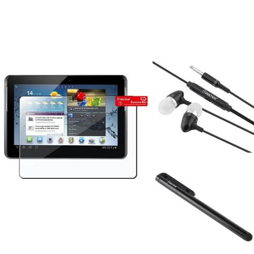 "Insten Screen Protector+Black Pen For Samsung Galaxy Tab 2 10.1"" P5100 +Black Headset"