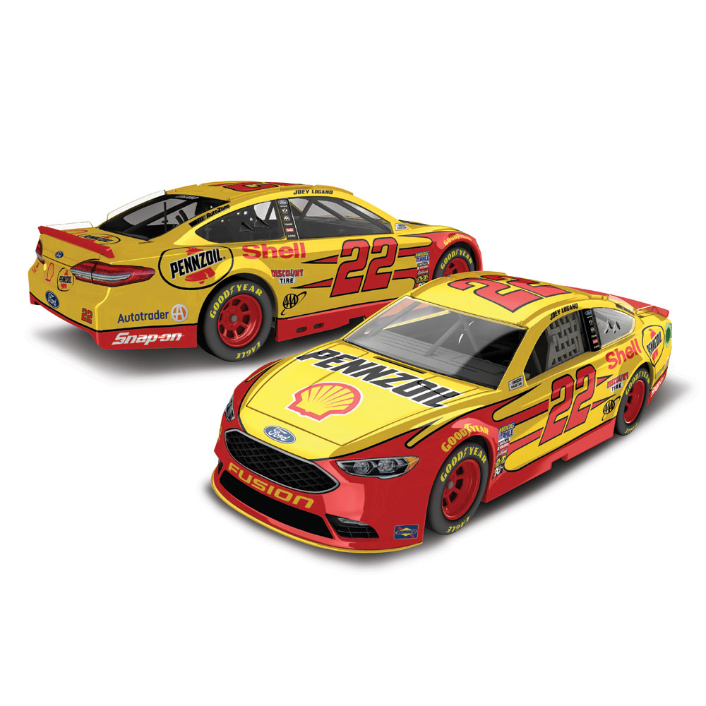 Joey Logano Action Racing 2018 #22 Shell-Pennzoil 1:64 Regular Paint Die-Cast Ford Fusion - No Size