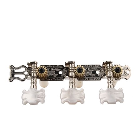 FeelGlad 6pcs Classical Guitar Assembly Tuner Tuning Keys Pegs Machine Heads with Pearl White Floriated Plastic Buttons