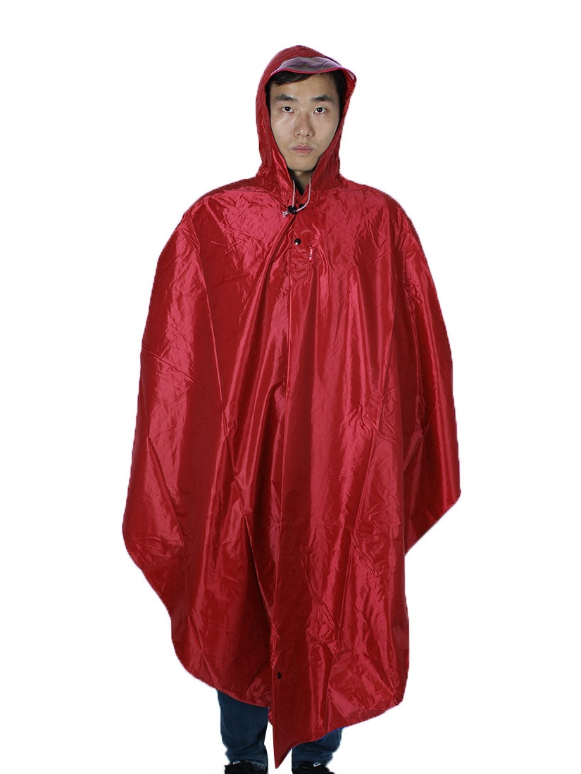 Mefine Authorized Outdoor Rainwear Bicycle Cycling Raincoat Rain Poncho Red by