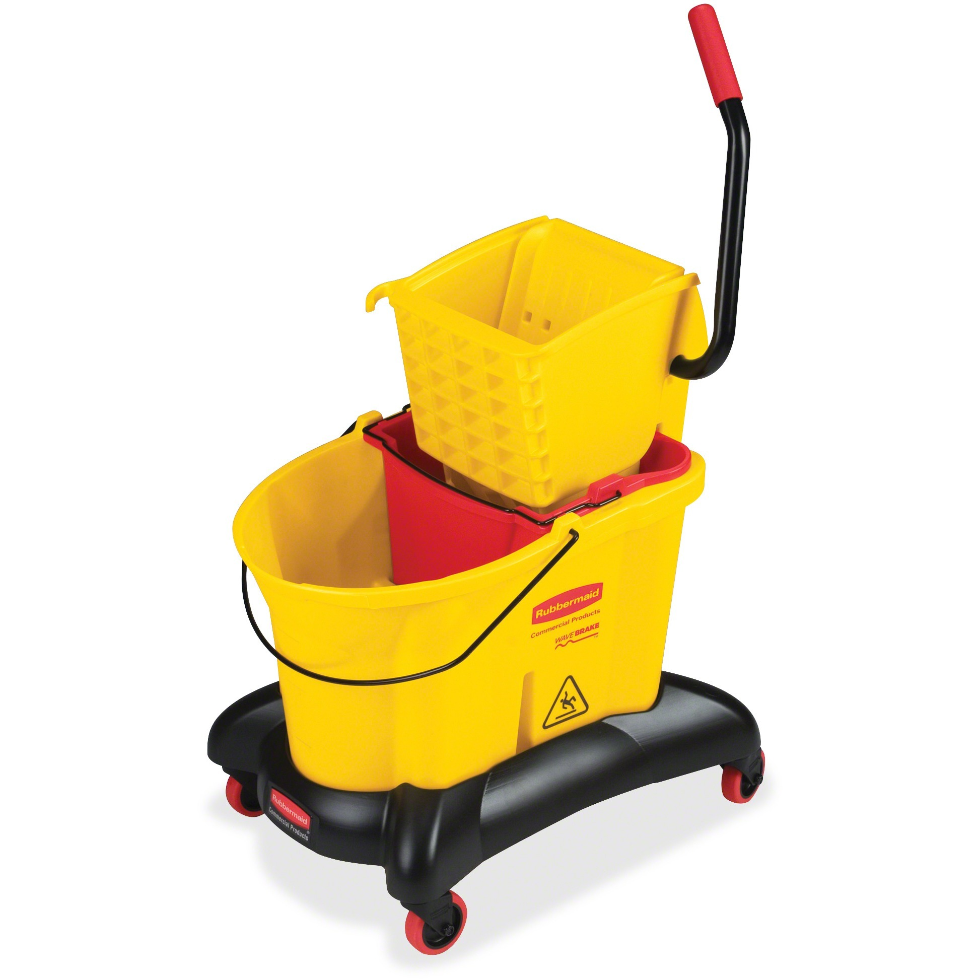 Rubbermaid WaveBrake Dual Water Combo, Yellow