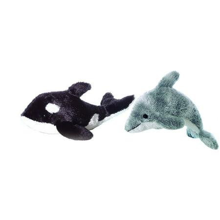 DORSEY DOLPHIN & ORCA Killer Whale Stuffed Animal Plush by Aurora, 9