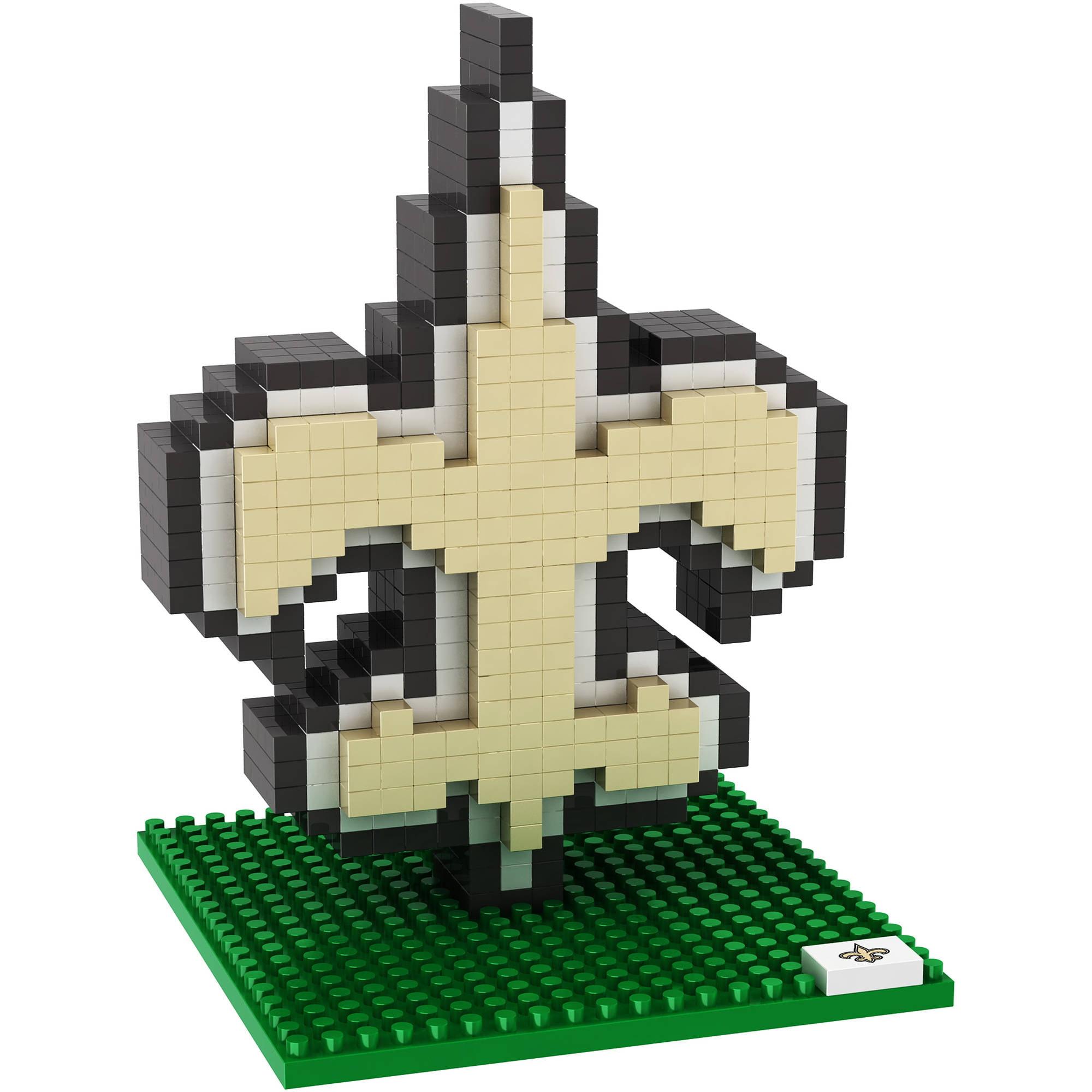 Forever Collectibles - NFL 3D BRXLZ Logo Building Blocks, New Orleans Saints