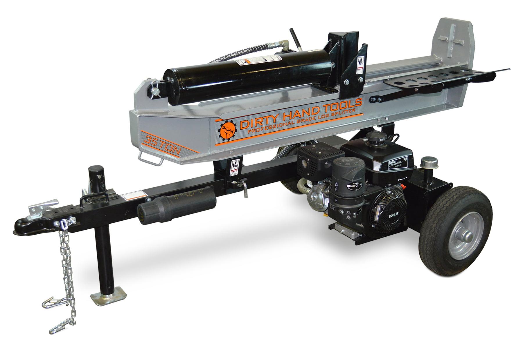 Dirty Hand Tools 35 Ton Horizontal Vertical Log Splitter, Kohler Engine by Dirty Hand Tools