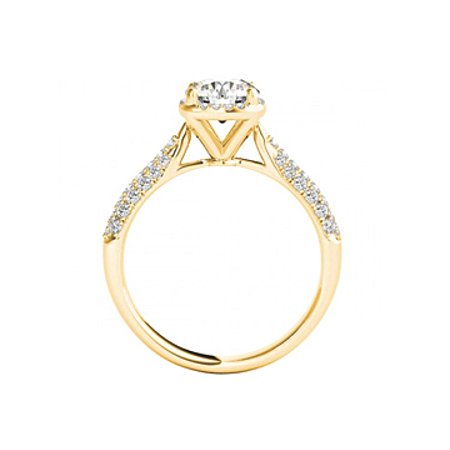 April Birthstone Round Cubic Zirconia 14K Yellow Gold - image 1 of 7