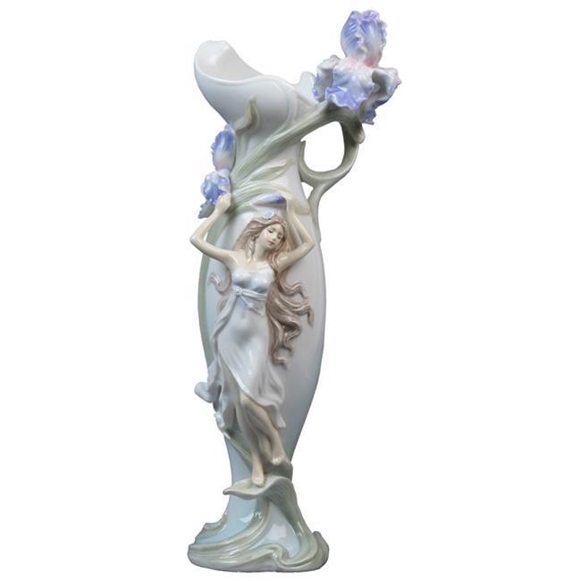 Unicorn Studios AP20151AA Pale Blue Porcelain Vase - Nymp...