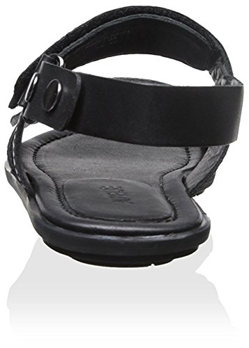 Atelj? 71 Women's Flora Dark Double Band Sandal, Black Dark Flora Silver, 8 M US b1a390
