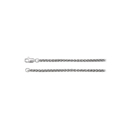 14K White Gold 2.4mm Wheat Chain Necklace - image 2 of 2