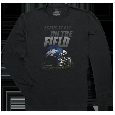 W Republic Apparel 525-193-E27-03 University of Nevada at Reno Gridiron Long Sleeve T-Shirts for Men - Black, Large - image 1 of 1