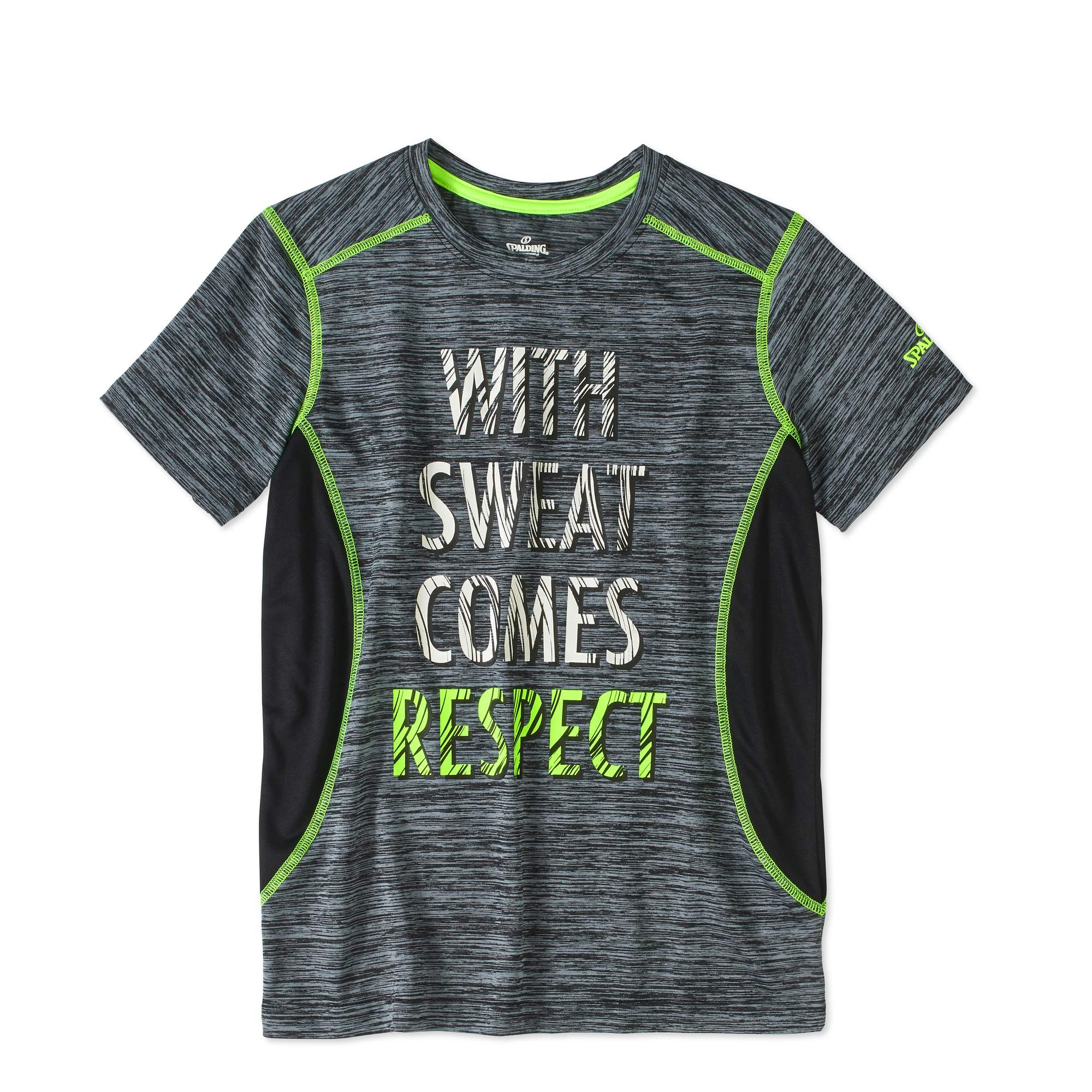 Spalding Boys' Short Sleeve Space Dyed T-Shirt