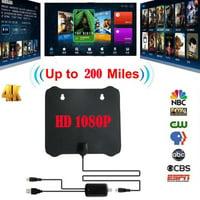 200 Mile Thin Flat Antenna HD TV HDTV 1080P 4K DTV Sky Link TV Antenna
